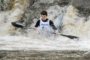 8 October 2011; Gerald O'Halloran, Wild Water Kayak Club, Co. Dublin, in action on the Straffan weir, Co. Kildare, in their Junior Racing Kayak Singles K1, during the 2011 Liffey Descent, Kildare - Dublin. Picture credit: Barry Cregg / SPORTSFILE