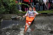 8 October 2011; Ryan Brady, Salmon Leap Canoe Club, Co. Dublin, in action on the Straffan weir, Co. Kildare, during the Junior Racing Kayak Singles K1, during the 2011 Liffey Descent, Kildare - Dublin. Picture credit: Barry Cregg / SPORTSFILE