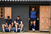 17 April 2017; Leinster players, from left, Mick Kearney, Jack Conan and Cian Healy during squad training at UCD, Dublin. Photo by Stephen McCarthy/Sportsfile