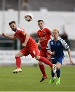17 April 2017; Greg Bolger of Cork City in action against Tommy Walsh of Limerick FC during the EA Sports Cup second round match between Limerick FC and Cork City at The Markets Field in Limerick. Photo by Diarmuid Greene/Sportsfile