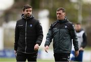 17 April 2017; Limerick FC interim manager Willie Boland, along with coach Tommy Barrett during the EA Sports Cup second round match between Limerick FC and Cork City at The Markets Field in Limerick. Photo by Diarmuid Greene/Sportsfile