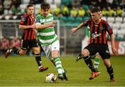 17 April 2017; Ronan Finn of Shamrock Rovers in action against Philip Gannon of Bohemians during the EA Sports Cup second round game between Shamrock Rovers and Bohemians at Tallaght Stadium in Tallaght, Dublin. Photo by David Maher/Sportsfile