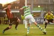 17 April 2017; Sean Boyd of Shamrock Rovers in action against Ian Morris of Bohemians during the EA Sports Cup second round game between Shamrock Rovers and Bohemians at Tallaght Stadium in Tallaght, Dublin. Photo by David Maher/Sportsfile