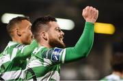 17 April 2017; Brandon Miele of Shamrock Rovers celebrates after scoring his side's second goal during the EA Sports Cup second round game between Shamrock Rovers and Bohemians at Tallaght Stadium in Tallaght, Dublin. Photo by David Maher/Sportsfile