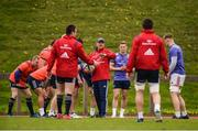 17 April 2017; Munster defence coach Jacques Nienaber speaks to his players during squad training at the University of Limerick in Limerick. Photo by Diarmuid Greene/Sportsfile