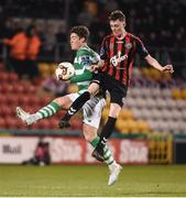 17 April 2017; Stephen Nolan of Bohemians in action against Sam Bone of Shamrock Rovers during the EA Sports Cup second round game between Shamrock Rovers and Bohemians at Tallaght Stadium in Tallaght, Dublin. Photo by David Maher/Sportsfile