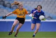 18 April 2017; Lucy Dunne of St Patrick's GAA, Co Wicklow, in action against Niamh Donohue of Crosserlough GAA, Co Cavan, during the Gaelic4Teens Activity Day at Croke Park in Dublin. Photo by Sam Barnes/Sportsfile
