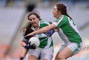 18 April 2017; Amy Molly of Clonguish GAA, Co Longford, in action against Jamie Mae-Gillispie of Naomh Muire Íochtar na Rosann GAA, Co Donegal, during the Gaelic4Teens Activity Day at Croke Park in Dublin. Photo by Sam Barnes/Sportsfile