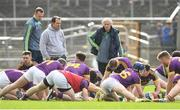 16 April 2017; Wexford manager Davy Fitzgerald watches his team warm down following the Allianz Hurling League Division 1 Semi-Final match between Wexford and Tipperary at Nowlan Park in Kilkenny. Photo by Ramsey Cardy/Sportsfile