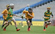 19 April 2017; Michael Collins representing Clonlara, Co. Clare in action against Sean Fitzpatrick representing South Liberties, Co. Limerick during the Go Games Provincial Days in partnership with Littlewoods Ireland Day 5 at Croke Park in Dublin. Photo by Matt Browne/Sportsfile