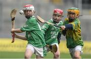 19 April 2017; Conor Burns representing Killeagh GAA Club, Co. Cork in action against Josh Murphy representing Askeaton GAA Club, Co. Limerick during the Go Games Provincial Days in partnership with Littlewoods Ireland Day 5 at Croke Park in Dublin. Photo by Matt Browne/Sportsfile