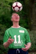 9 May 2002; Former Republic of Ireland manager Jack Charlton OBE, launched a cholesterol awareness campaign with Flora pro.activ! Jack successfully reduced his cholesterol by 11% on a three week trial using Flora pro.activ as part of healthy diet - proving that he never takes his eye off the ball where his health is concerned. Soccer. Picture credit; Brendan Moran / SPORTSFILE