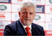 19 April 2017; British & Irish Lions head coach Warren Gatland in attendance at the announcement of the British & Irish Lions Squad for the 2017 Tour to New Zealand at the Hilton London Syon Park in Middlesex, London. Photo by Paul Harding/Sportsfile