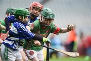 19 April 2017; Aaron Nolan representing Crotta O'Neills, Co. Kerry, in action against Andy Foley representing Caherline, Co. Limerick, during the Go Games Provincial Days in partnership with Littlewoods Ireland Day 5 at Croke Park in Dublin. Photo by Matt Browne/Sportsfile
