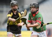 19 April 2017; Bryan Quilter representing Crotta O'Neills, Co. Kerry, in action against Sean Stapleton representing Clonakenny, Co. Tipperary, during the Go Games Provincial Days in partnership with Littlewoods Ireland Day 5 at Croke Park in Dublin. Photo by Matt Browne/Sportsfile