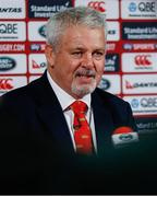 19 April 2017; British & Irish Lions head coach Warren Gatland speaking during the announcement of the British & Irish Lions Squad for the 2017 Tour to New Zealand at the Hilton London Syon Park in Middlesex, London. Photo by Paul Harding/Sportsfile