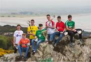 19 April 2017; In attendance at the Bank of Ireland Celtic Challenge Launch 2017 are, from left, Seán McGeary of Tyrone, Oisín Hughes of Armagh, Dylan Carey of Antrim, Luca McCusker of Fermanagh, Cian McHugh of Derry, Ronan Blair of Down and Anthony McNulty of Fermanagh in Howth, Co Dublin.  Photo by Sam Barnes/Sportsfile