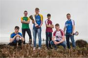 19 April 2017; In attendance at the Bank of Ireland Celtic Challenge Launch 2017, from left, Éanna McMahon of North Clare, Conor Butler of Offaly, Eóin Morris of North Tipperary,  Jack Hughes of Galway McDonagh, Ronan Flanery of Galway Maroon and Liam Delaney of Laois, in Howth, Co Dublin.  Photo by Sam Barnes/Sportsfile