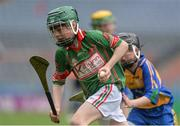 19 April 2017; Calum Ryan, representing Crotta O'Neills, Co. Kerry, in action against Callum McNulty, representing Sacred Heart, Co. Waterford, during the Go Games Provincial Days in partnership with Littlewoods Ireland Day 5 at Croke Park in Dublin.   Photo by Piaras Ó Mídheach/Sportsfile