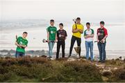19 April 2017; In attendance at the Bank of Ireland Celtic Challenge Launch 2017 are, from left, Liam Twomey of Kerry, Mikey Hayes of Limerick City, Evan Carroll of West Cork, Darragh Whelan of Clare South/East, Seán Ó'Connor of West Limerick and Trevor Doyle of North Cork, in Howth, Co Dublin.  Photo by Sam Barnes/Sportsfile
