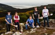 19 April 2017; In attendance at the Bank of Ireland Celtic Challenge Launch 2017 are, from left, Sean Wynne of Dublin Plunkett, Jack Penrose of Westmeath, Adam Hughes of Wicklow, Dylan Carey of Kilkenny Black and Ben O'Reilly of Kildare Lily Whites, in Howth, Co Dublin.  Photo by Sam Barnes/Sportsfile