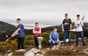 19 April 2017; In attendance at the Bank of Ireland Celtic Challenge Launch 2017 are, from left, Gavin Male of Dublin Plunkett, Jack Penrose of Westmeath, Adam Hughes of Wicklow, Dylan Carey of Kilkenny Black and Ben O'Reilly of Kildare Lily Whites, in Howth, Co Dublin.  Photo by Sam Barnes/Sportsfile