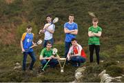 19 April 2017; In attendance at the Bank of Ireland Celtic Challenge Launch 2017 are, from left, Ian Campbell of Longford, Michael Maguire of Monaghan, Cian Mallon of Leitrim, Jessie Holland of Cavan, Eoghan O'Hora of Louth and Andrew Dinan of Meath Kings, in Howth, Co Dublin.  Photo by Sam Barnes/Sportsfile