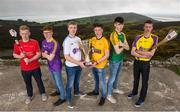 19 April 2017; In attendance at the Bank of Ireland Celtic Challenge Launch 2017 are, from left, Jack Ryan of Carlow, Philip Pedmond of Wexford Purple, Jack Dalton of Dublin Clarke, Sean Farrelly of Kilkenny Amber, Evan Bourke of Meath Royals and Adam Kelly Kiernan of Wexford Gold, in Howth, Co Dublin.  Photo by Sam Barnes/Sportsfile