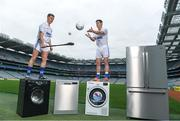 20 April 2017; Dublin senior footballer Diarmuid Connolly and Kilkenny senior hurler Cillian Buckley, in Croke Park, Dublin, at the launch of the Beko Club Bua award scheme, a new club accreditation and health check system co-ordinated by Leinster GAA for clubs in the province. For more information visit Leinstergaa.ie.  Photo by Stephen McCarthy/Sportsfile