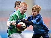 20 April 2017; Paddy Tangney representing Listry Co Kerry in action against Jack Carey representing Cooraclare Co Clare during the Go Games Provincial Days in partnership with Littlewoods Ireland Day 6 at Croke Park in Dublin. Photo by Matt Browne/Sportsfile