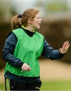 16 April 2017; Offaly manager Sinéad Commins during the Lidl Ladies Football National League Division 3 Semi-Final match between Tipperary and Offaly at Clane GAA Club in Clane, Co Kildare. Photo by Piaras Ó Mídheach/Sportsfile