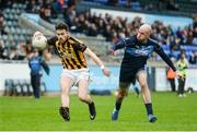 20 April 2017; Jamie Story of Naomh Mearnóg in action against Paul Cunningham of St Jude's during the Dublin County Senior Club Football Championship Round 1 match between St Jude's and Naomh Mearnóg at Parnell Park in Dublin. Photo by Piaras Ó Mídheach/Sportsfile
