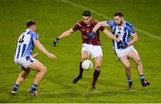 20 April 2017; Bernard Brogan of St Oliver Plunketts Eoghan Ruadh scores a point under pressure from Tom Hannifin, left, and Bob Dwan of Ballyboden St Endas during the Dublin County Senior Club Football Championship Round 1 match between Ballyboden St Endas and St Oliver Plunketts Eoghan Ruadh at Parnell Park in Dublin. Photo by Piaras Ó Mídheach/Sportsfile