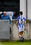 20 April 2017; Shane Clayton of Ballyboden St Endas makes his way to the dressing room after picking up an injury in the first half during the Dublin County Senior Club Football Championship Round 1 match between Ballyboden St Endas and St Oliver Plunketts Eoghan Ruadh at Parnell Park in Dublin. Photo by Piaras Ó Mídheach/Sportsfile