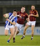 20 April 2017; Colm Basquel of Ballyboden St Endas in action against Declan Lally of St Oliver Plunketts Eoghan Ruadh during the Dublin County Senior Club Football Championship Round 1 match between Ballyboden St Endas and St Oliver Plunketts Eoghan Ruadh at Parnell Park in Dublin. Photo by Piaras Ó Mídheach/Sportsfile