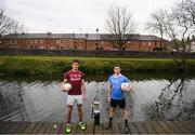 21 April 2017; Dublin U21 footballer & co-captain Cillian O'Shea and Galway U21 footballer & captain Michael Daly met in Croke Park today ahead of the EirGrid GAA Football U21 All-Ireland Final which will take place on Saturday, 29th April at 5pm in O'Connor Park, Tullamore. EirGrid is the state-owned company that manages and develops Ireland's electricity grid. For more information see www.eirgrid.com or AA. Photo by Stephen McCarthy/Sportsfile
