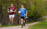 21 April 2017; Dublin U21 footballer & co-captain Cillian O'Shea and Galway U21 footballer & captain Michael Daly, pictured, met in Croke Park today ahead of the EirGrid GAA Football U21 All-Ireland Final which will take place on Saturday, 29th April at 5pm in O'Connor Park, Tullamore. EirGrid is the state-owned company that manages and develops Ireland's electricity grid. For more information see www.eirgrid.com or AA. Photo by Stephen McCarthy/Sportsfile