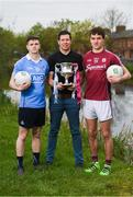 21 April 2017; EirGrid U21 Football Ambassador Sean Cavanagh of Tyrone with Dublin U21 footballer & co-captain Cillian O'Shea and Galway U21 footballer & captain Michael Daly who met in Croke Park today ahead of the EirGrid GAA Football U21 All-Ireland Final which will take place on Saturday, 29th April at 5pm in O'Connor Park, Tullamore. EirGrid is the state-owned company that manages and develops Ireland's electricity grid. For more information see www.eirgrid.com or AA. Photo by Stephen McCarthy/Sportsfile