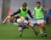 21 April 2017; Clive Moffitt, representing Shannon Gaels GAA Club, Co Cavan, in action against Joe Galligan, representing Lacken Celtic GAA Club, Co Cavan, during the Go Games Provincial Days in partnership with Littlewoods Ireland Day 7 at Croke Park in Dublin. Photo by Cody Glenn/Sportsfile