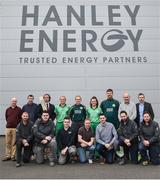 21 April 2017; Irish International Women's Cricket Team players and Hanley Energy staff at the announcement of Hanley Energy as the official sponsors of the Irish International Women's Cricket Team at Hanley Head Office, City North Business Park in Stamullin, Meath. Photo by Cody Glenn/Sportsfile