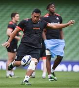 21 April 2017; Mako Vunipola of Saracens during their captain's run at the Aviva Stadium in Dublin. Photo by Stephen McCarthy/Sportsfile
