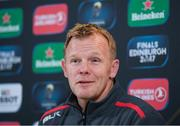 21 April 2017; Saracens director of rugby Mark McCall during a press conference at the Aviva Stadium in Dublin. Photo by Stephen McCarthy/Sportsfile