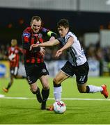 21 April 2017; Jamie McGrath of Dundalk in action against Derek Pender of Bohemians during the SSE Airtricity League Premier Division match between Dundalk and Bohemians at Oriel Park in Dundalk, Co. Louth. Photo by Piaras Ó Mídheach/Sportsfile