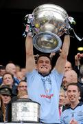 18 September 2011; Diarmuid Connolly, Dublin, lifts the Sam Maguire Cup. GAA Football All-Ireland Senior Championship Final, Kerry v Dublin, Croke Park, Dublin. Picture credit: Ray McManus / SPORTSFILE