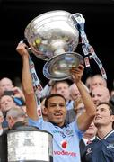 18 September 2011; Craig Dias, Dublin, lifts the Sam Maguire Cup. GAA Football All-Ireland Senior Championship Final, Kerry v Dublin, Croke Park, Dublin. Picture credit: Ray McManus / SPORTSFILE