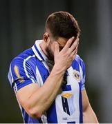 20 April 2017; Bob Dwan of Ballyboden St Endas leaves the field dejected after the Dublin County Senior Club Football Championship Round 1 match between Ballyboden St Endas and St Oliver Plunketts Eoghan Ruadh at Parnell Park in Dublin. Photo by Piaras Ó Mídheach/Sportsfile