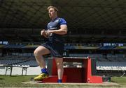 22 April 2017; James Tracy of Leinster during their captain's run at the Matmut Stadium de Gerland in Lyon, France. Photo by Stephen McCarthy/Sportsfile