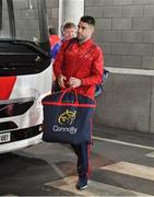22 April 2017; Munster's injured scrum-half Conor Murray arrives prior to the European Rugby Champions Cup Semi-Final match between Munster and Saracens at the Aviva Stadium in Dublin. Photo by Brendan Moran/Sportsfile