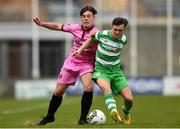 22 April 2017; Rhys Murphy of Shamrock Rovers in action against Kyle Kennedy of Wexford FC during the SSE Airtricity U17 League match between Shamrock Rovers and Wexford FC at Tallaght Stadium in Tallaght, Dublin. Photo by Eóin Noonan/Sportsfile