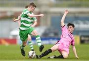 22 April 2017; Jack Kelly of Shamrock Rovers in action against Cian Foley of Wexford FC during the SSE Airtricity U17 League match between Shamrock Rovers and Wexford FC at Tallaght Stadium in Tallaght, Dublin. Photo by Eóin Noonan/Sportsfile